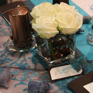 Hochzeitsdekoration in Braun - Stil und Wärme für die Hochzeit