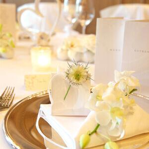 Hochzeitsdeko In Creme Klassische Hochzeit Weddix