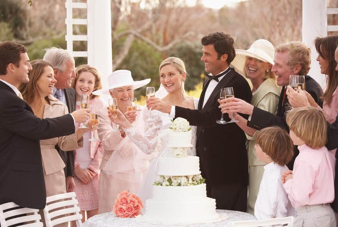 Поздравления молодых родственниками на свадьбу
