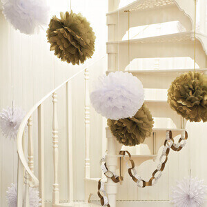 pompoms-gold-weiss