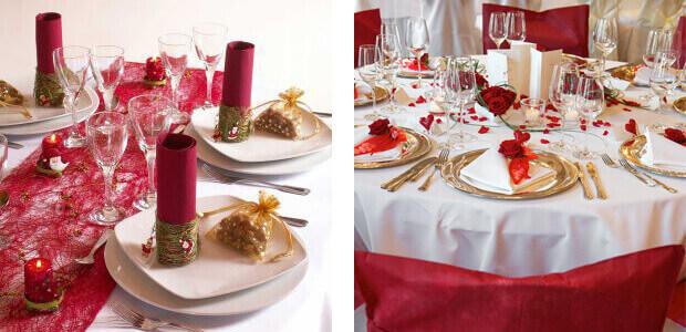 Tischdeko und mehr für die Hochzeit in Rot - für Farbe auf Ihrer ...