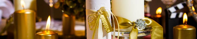 Hochzeitsdeko in gold t nen weddix for Hochzeitsdeko gold