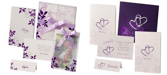 hochzeitseinladungen lila flieder alle guten ideen ber die ehe. Black Bedroom Furniture Sets. Home Design Ideas