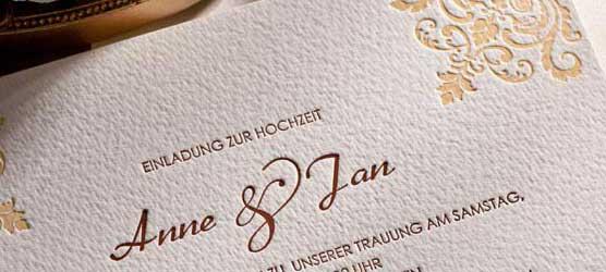 Toll Hochzeitskarten Einladungen : Hochzeitskarten Edle Einladungen Mit  Letterpress Weddix