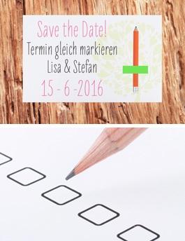 Save the Date mit Bleistift