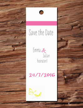 Lesezeichen f�r Save the Date