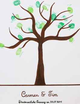 Wedding-Tree als G�stebuch